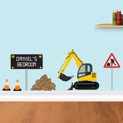 jaf graphics personalised digger wall sticker