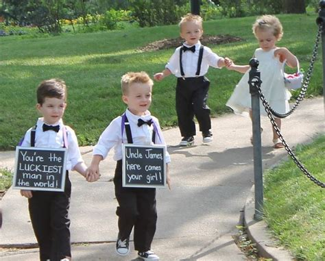 chalkboard wedding sign for the ring bearer to carry