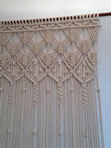 macrame curtain handmade macrame wall by