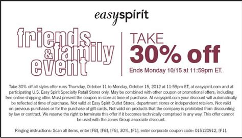 Easy Spirit Shoes Coupons Printable
