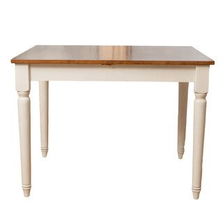 bronwen wood dining table with leaf extension farmhouse