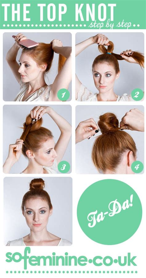 how to do knot hairstyles how to do a a super cute top knot hair and makeup