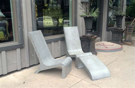concrete patio furniture custom made concrete adirondack chair by masonry and metal