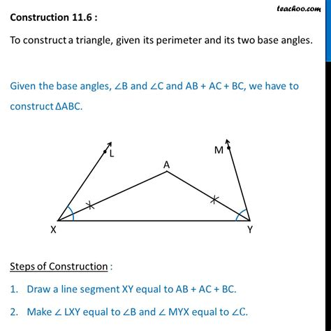 construct a triangle construction 11 6 construct triangle given perimeter