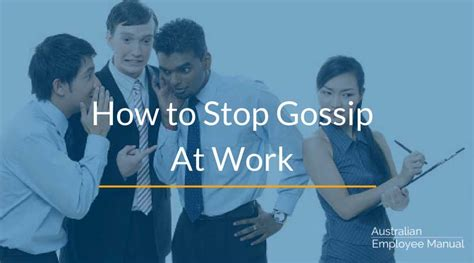 how to stop the gossip at work how to stop gossip at work