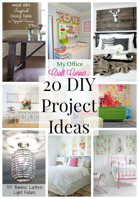 20 diy home decor projects link party features i heart 20 diy project ideas link party features i heart nap time