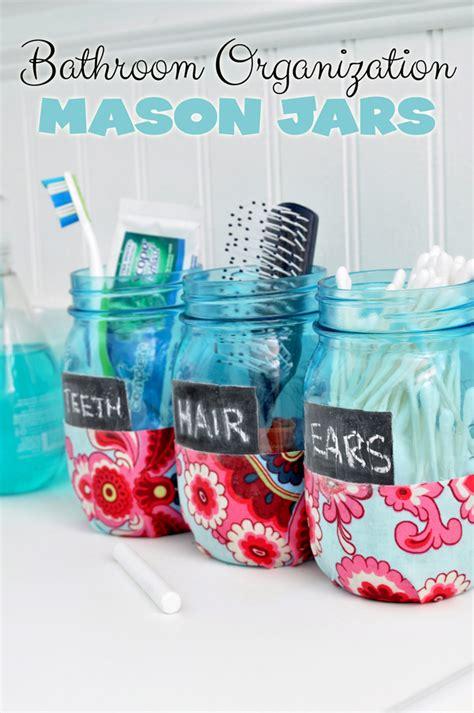 a dozen jar ideas for the bathroom yesterday on