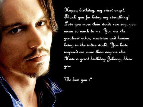 Johnny Depp Happy Birthday Card Happy Birthday Johnny Johnny Depp Photo 31079716