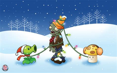 imagenes de plantas contra zombies navidad wallpaper plants vs zombies hd wallpaper