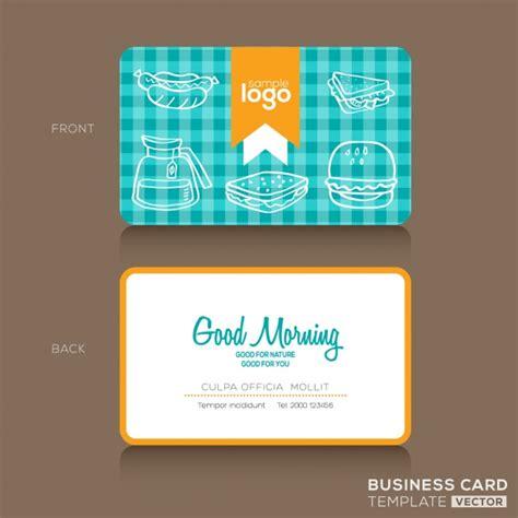 Kostenlose Vorlage Visitenkarten Visitenkarten Design Vorlage F 252 R B 228 Ckereigesch 228 Ft Oder Caf 233 Der Kostenlosen Vektor