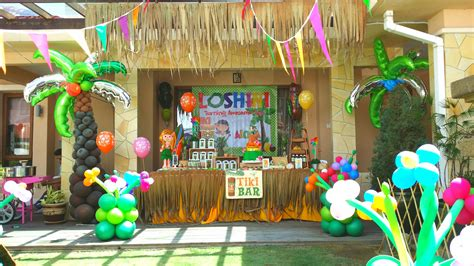 theme hawaiian party for loshini 2nd birthday abby