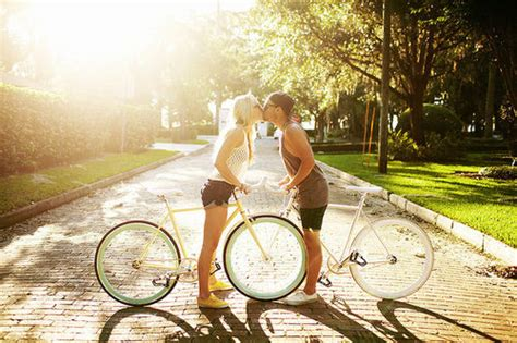 kissing  bikes pictures   images  facebook tumblr pinterest  twitter