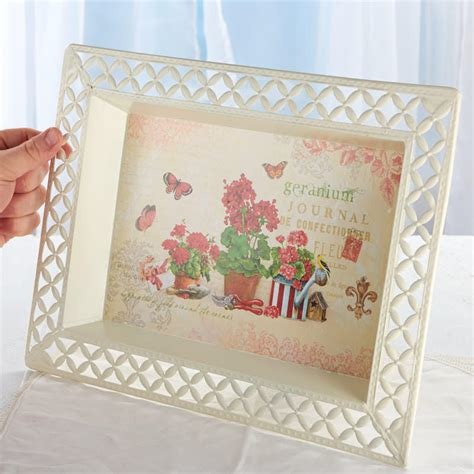 decoupage home decor vintage inspired geranium french decoupage tray