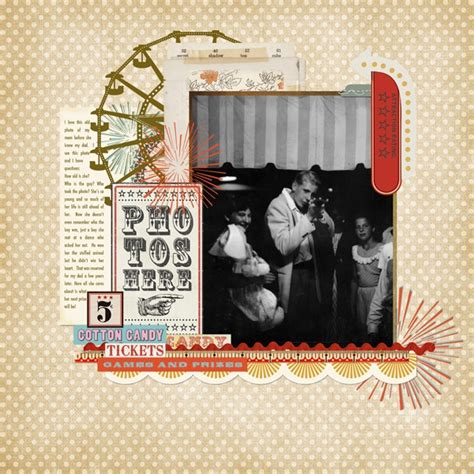scrapbook layout ferris wheel carnival theme crazy crafty scrapbooking pinterest