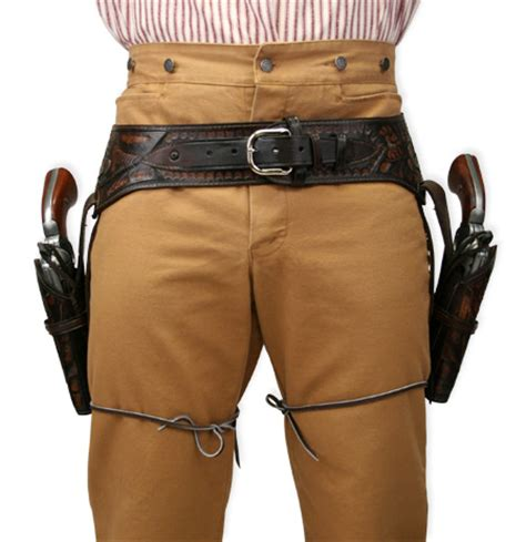 44 45 cal western gun belt and holster two