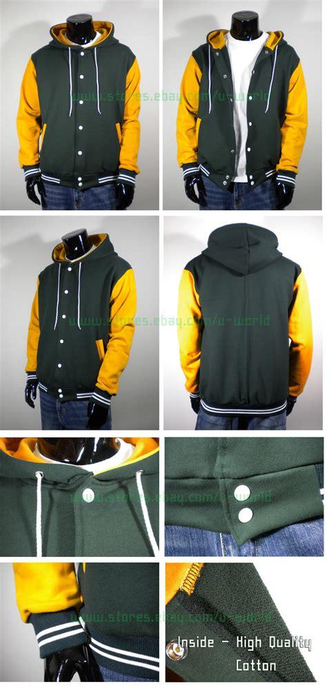Jaket Hoodie Deus Import Quality 4 mens new varsity hoodie baseball jacket s m l xl 2xl 3xl