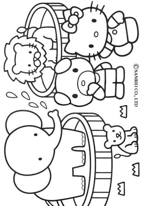 dibujos infantiles zoologico dibujos para colorear hello kitty zool 243 gico es hellokids com