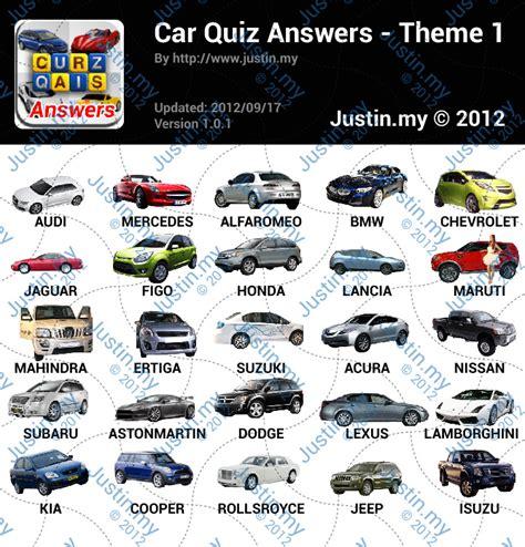 themes de quiz cars quiz answers justin my