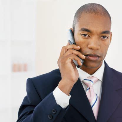 Black guy on phone