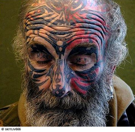 crazy face tattoos tattoos