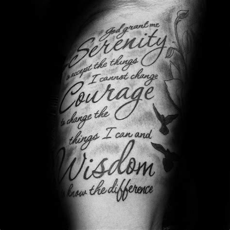 prayer tattoos for men 50 serenity prayer designs for uplifting ideas
