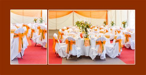 tischdeko hochzeit orange tischdeko 187 stuhlhussen mit farbigen schleifen veredeln