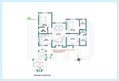 ground floor plan 2000 sq contemporary villa plan and elevation