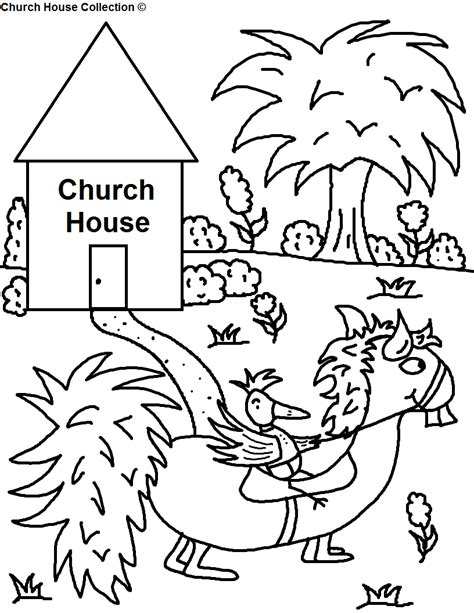 church house coloring pages church house collection blog bird riding funny looking