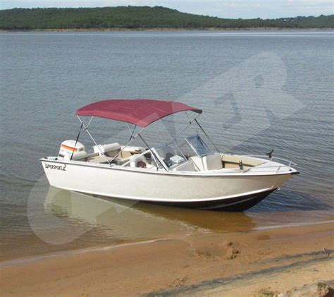 7oz boat bimini top high tide v 1602 standard w side - Boat Windshield Canopy