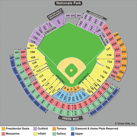 nationals park seating view washington nationals tickets 2018 nats tickets