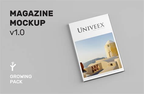 graphic design magazine mockup a4 magazine mockup