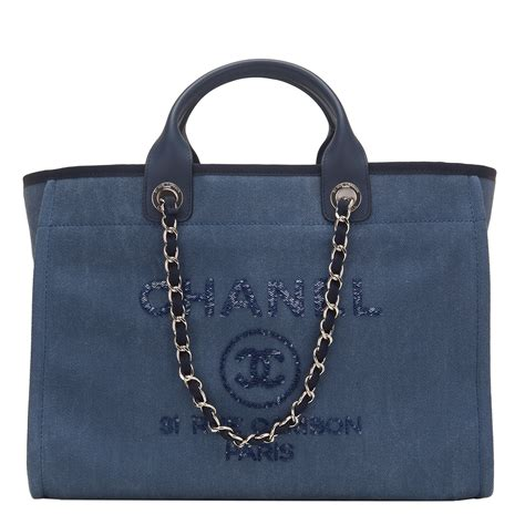 Chanel Deauville Shopping Tote Bags 972 chanel large navy canvas with sequins deauville tote world s best