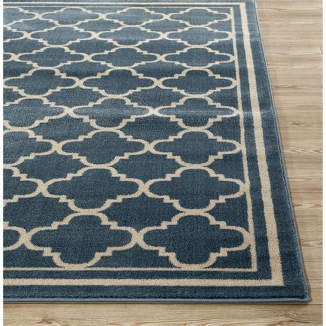 blue accent rug world rug gallery alpine blue area rug reviews wayfair