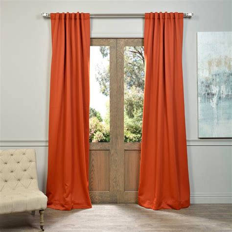 orange blackout curtains exclusive fabrics furnishings blaze orange blackout