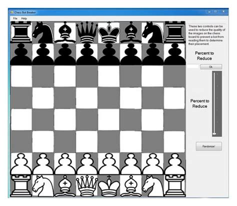 layout for chess game development of embedded captcha elements for bot