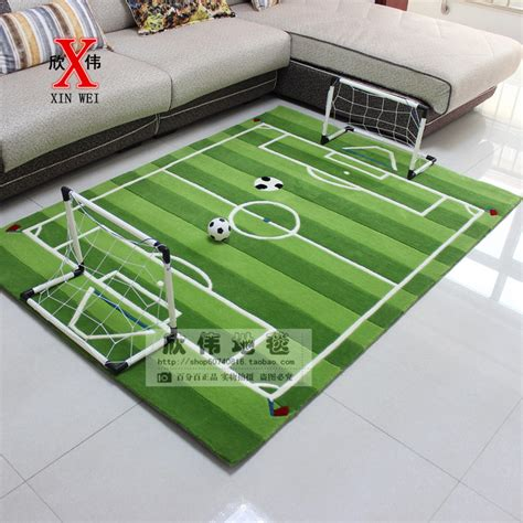 Karpet Acrylic acrylic soccer field for children living room carpet tapete alfombras tapis salon carpets rugs