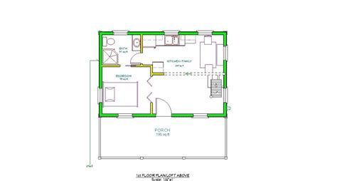 16 x 16 cabin floor plans adirondack cabin plans 16 x24 with cozy loft and front porch 1 5 bath