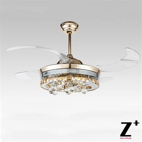 chandelier style ceiling fans american modern style led lights 4 collapsible fan crystal