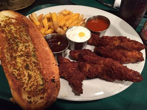 chicago steak houses chicken tenders with 3 dipping sauces cheese fries garlic bread yelp