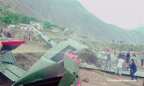 Bajura Kolti Airport update pilot killed 2 rescued as nepal army plane overshoots runway in bajura onlinekhabar