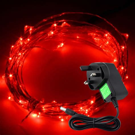 12v 1a starry fairy lights with micro leds 2 5 10m silver
