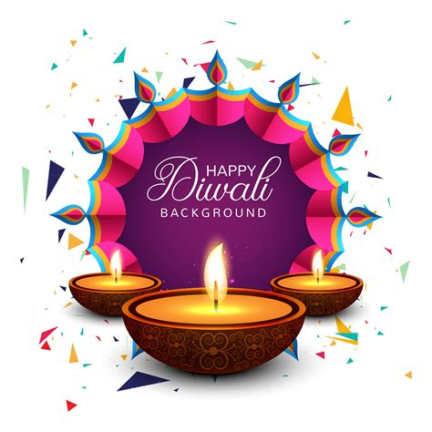beautiful greeting card  festival happy diwali