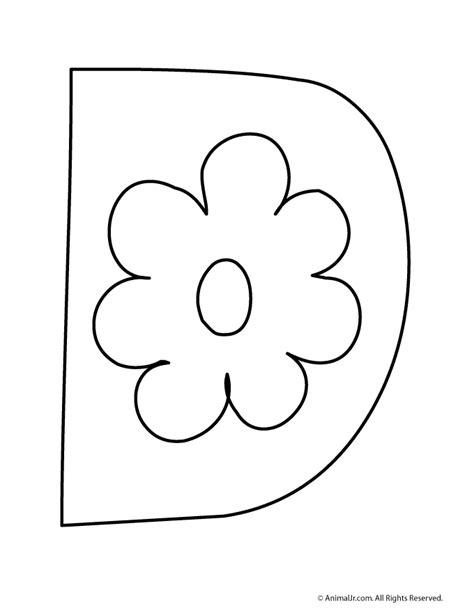 fancy letter d coloring page flower bubble letter d coloring pages pinterest