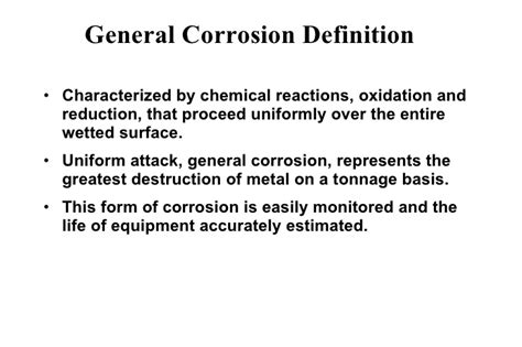 corrosion resistance definition corrosion sl part two