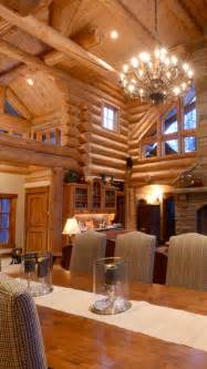 Log Home Interiors Photos by Rustic Home Design Inspiration