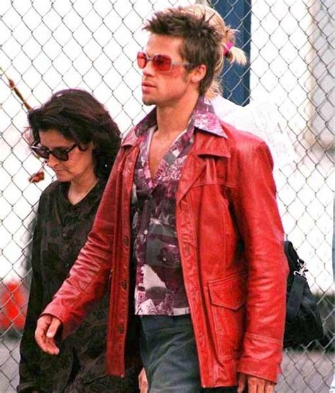 Hell S Kitchen Brad Pitt Brad Pitt Fight Club Coat In Leather