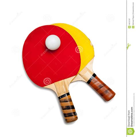 ping pong or table tennis equipment stock image image