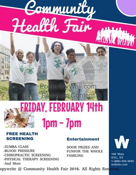 Community Health Fair Template Postermywall Community Health Fair Flyer Template