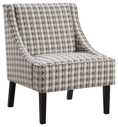 brown patterned armchair accent chair with a light brown diamond pattern upholstery