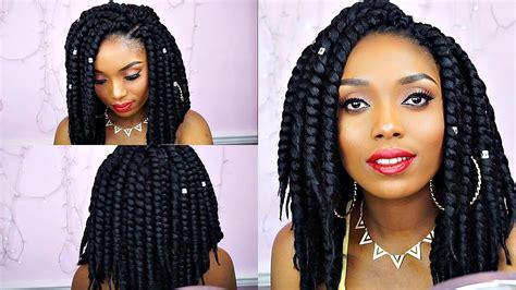 jumbo short kinky twist hairstyles large size senegalese how to crochet havana jumbo twist tutorial ft deda s hair